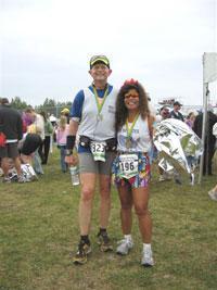 Larry Macon & Boonsom Hartman after the Mayor's Midnight Sun Marathon on 06/23/07.