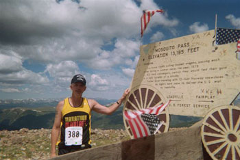 Eddie Hahn at Mosquito Pass of the Leadville Trail Marathon