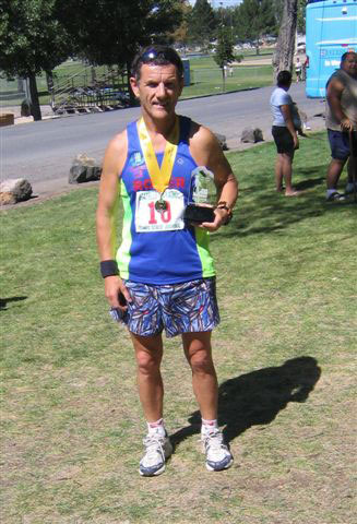 Roger Biggs on September 1st following the Pocatello Marathon. (he was 3rd Vet 55).
