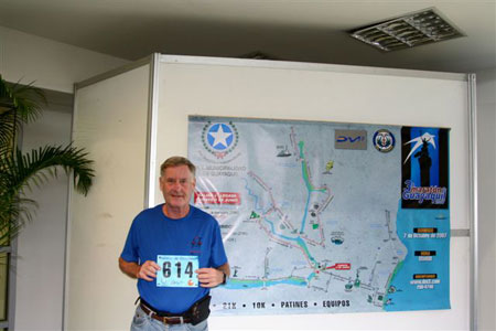 Maddog John Wallace at Race registration in Guyaquil.