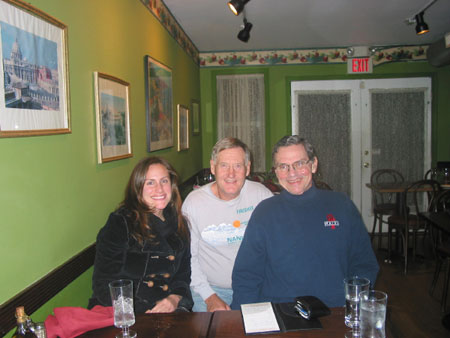 John Wallace with friends after completed a marathon in all 50 States + DC for a 2nd time! This was at the Philadelphia Marathon 11/18/07.