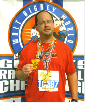 Ken Ott after finishing Disney World Marathon on 01/07/07.