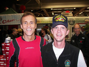 Eddie Hahn with famed marathoner Dick Beardsley at the California International Marathon ('CIM')in Saramento 2007.