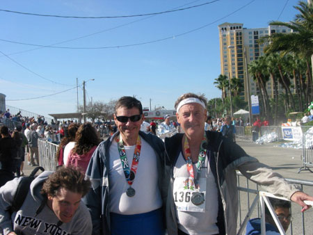 Maddog and friend after the Gasparilla Marathon in Tampa FL on 2/10/07