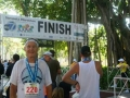 A happy and injury-free Maddog at the finish line after the Sarasota Marathon 2007.