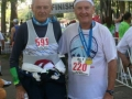 Maddog and his friend/mentor Wally Herman (81 years young, 680+ marathons) at the finish line after the Sarasota Marathon 2007.