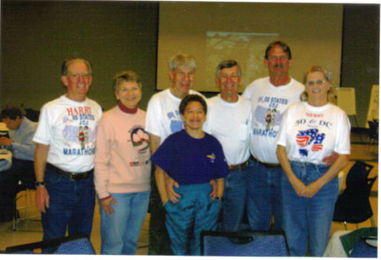 Harry Hoffman,Peggy Rogers,Dan Sinigallia,Wendy Blauman,Robert Bishton,Jerry Schaver, & Merry Hoffman at the pasta dinner in Brookings, SD on 05/09/08.