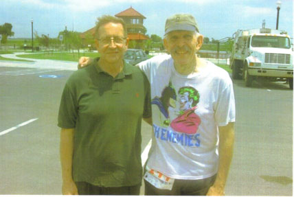 Bob Livitz and J R Cook the Executive director of Unity and race director of the Andy Payne Payne Marathon in 2008.