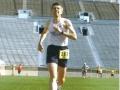 Bob Kovell finishing the Sunburst Marathon in 2006.