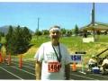 Maddog at the finish at Estes Park Marathon 06/15/08