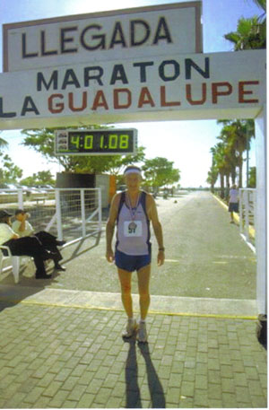 Maddog after finishing the Puerto Rico Marathon.