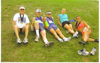 Maddog and friends Jack, and Roger with friends from Nevada after the race in Boulder,CO.