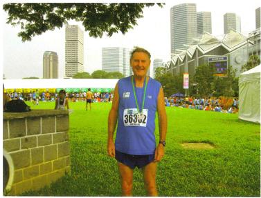 A hot Maddog in the finish area after the Singapore Marathon in 2009.