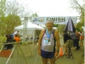 A photo of Maddog at the finish of the Sarasota Marathon in 2009.