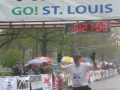 John Moralez is finishing the St Louis Marathon which complete his circuit. Also a time of 5:21:09. Great job John!!!!!!!!