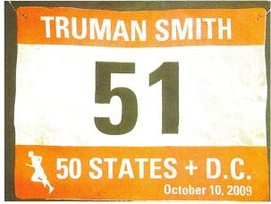 Truman Smith from Tennessee with a special bib number #51.