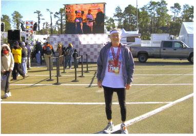 A COLD Maddog at the finish line after the Disney Marathon.