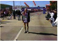 Maddog at the finish line of the Gasparilla Marathon in 2010.