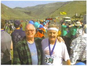 Maddog celebrated his 66th birthday by running the Yakima River Canyon Marathon in Yakima, WA on Sat, Mar 27/10 and winning his age group in 3:47:45. A photo of Maddog and Mike Howell - his local Sports Manager for the race!