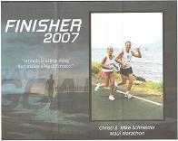 Christi and Mike Schneider running the Maui Marathon on 09/16/07.