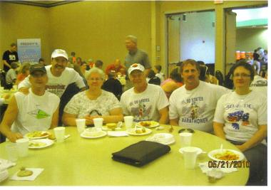 Chuck Struckness, Frank Bartocci, Sharon and Al Kohli, and Jerry and Carol Schaver at the Fargo pasta dinner 05/21/10.
