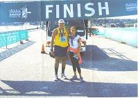 Roscoe Douglas after finishing the Newport, RI Marathon.