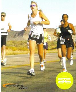 Katherine Zampolin running the St. George Marathon in 2009.