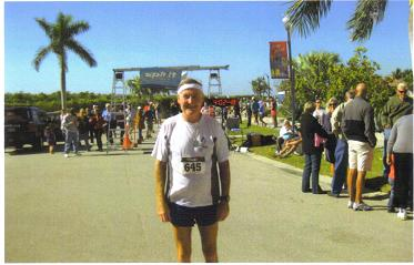 Maddog after the Cape Coral Marathon in 2010.