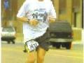 Tom Terrell running the St. Jude Mempdis Marathon in Memphis, TN on 12/03/05