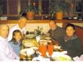 Maddog, Olivia, Edson, Maria and Marty enjoying pasta dinner before the Disney Marathon.