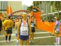 A frustrated Maddog at the finish line of the Miami Marathon in 2010.