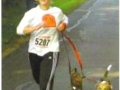 Megan Stillberger running with her training buddies in a 10K run.
