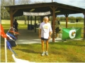 Maddog at the finish line of the Florida Sheriff's Youth Ranch Marathon in 2010. Mad was 2nd overall
