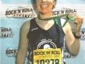 Yvonne Finnegan after finishing the Rock N Rool Marathon in Seattle, WA in June of 2009.