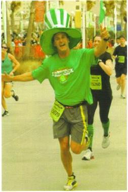 Patrick Weldon running the Shamrock Marathon in Virginia Beach.