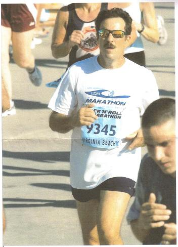 Murray Honick running the Rock N Roll Marathon at Virginia Beach.