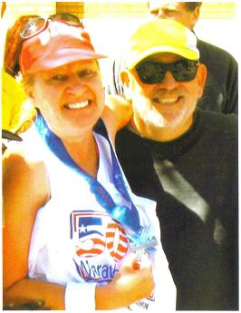 Meta Minton and David Towns after she finish the 50&DC Marathon Circuit. Great Job Meta!