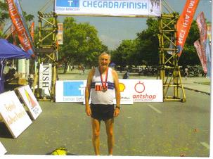 John Wallace temps were brutal! Was pleased to finish the Dili Peace Marathon, in Dili, East Timor in 4:47:13 Marathon # 345 and country # 108!