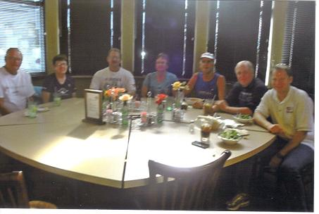 Virgil & Cheryl Uhrmacher from NE, Jerry & Carol Schaver from IL, Chuck Struckness from MN, Brad Schwartz from IL, and Marius Hansen from MN. At Romeos Italian Restaurant on 919 SW Higgins Ave. In Missoula, MT. It was great to see everyone there and I?m g