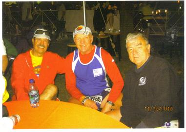Frank Bartlett, Al Kohli, and Henry Rueden at the Oklahoma Marathon on 11/20/2010.