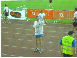Donald Bierer after running the Helsinki Marathon.