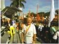 Maddog at the finish line at the Miami Marathon 2011.