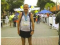 Maddog at the finish line at the Melbourne & Beaches Music Marathon