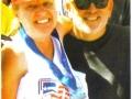 Meta Minton and David Towns after she finish the 50&DC Marathon Circuit. Great Job Meta!
