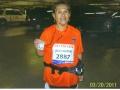Jeanntte Roostai after finishing the LA Marathon on 3/20/11. Marathon 94.