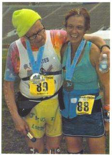 Lisa and Randy Hansen finished the sunburst marathon in southbend Indiana June 1st.