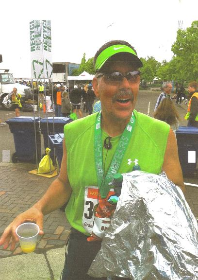 James Reimann after finishing the Grandma's Marathon.