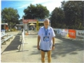 Maddog at the finish of the Ocala Marathon in Ocala, FL on 01/22/12. Marathon #352.