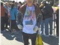 A 'frozen' Maddog at the finish line in Jacksonville, FL Marathon 2012.