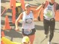 Denise Piefke finishing the ING New York City Marathon